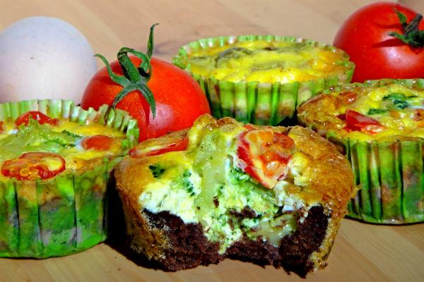 Quiche paleo muffiny so zeleninou